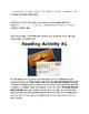 Tic Tac Toe: English Extension Activities