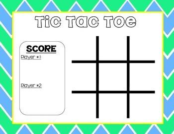 Tic Tac Toe (FREEBIE)
