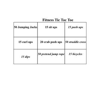 Tic Tac Toe Fitness