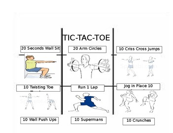 Tic-Tac-Toe Fitness Warm-Up
