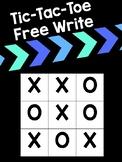 Tic Tac Toe Free Write