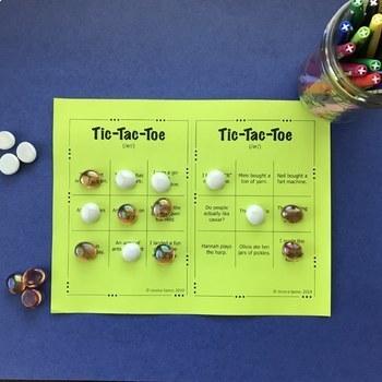 Tic-Tac-Toe Freebie: A sentence-level articulation activity for /ar/