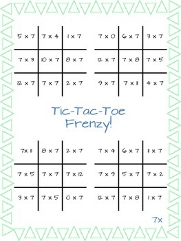 Multiplication Game - Tic-Tac-Toe Frenzy!