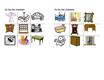 Furniture pictures Tic Tac Toe