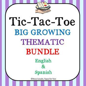 Tic Tac Toe GROWING THEMATIC BUNDLE