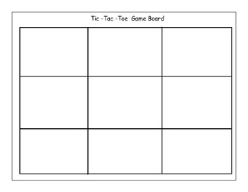 Tic Tac Toe Game Board By Miss Michelle S Kindergarten Printables