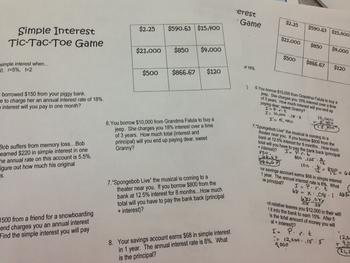Tic-Tac-Toe Game (Simple Interest)