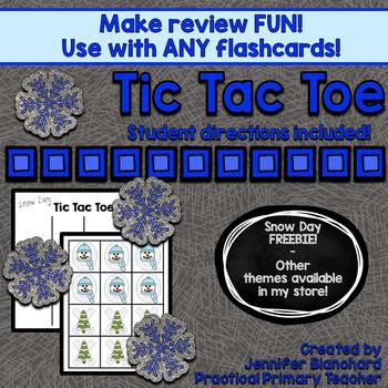 Show What You Know Tic Tac Toe (Snow Day) *FREEBIE* Litera