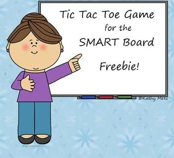 Tic Tac Toe Game for the SMART Board FREEBIE!