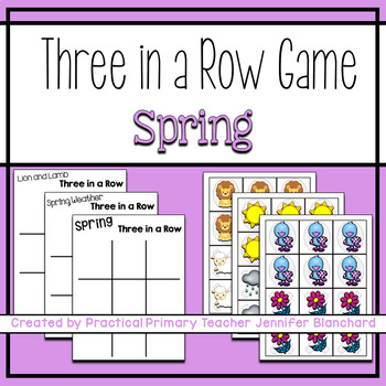 Show What You Know Tic Tac Toe (Lion/Lamb, Spring, Weather) Literacy or Math