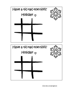 Tic Tac Toe Gift Card Tag