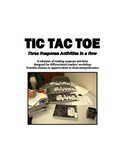 Tic Tac Toe Grid - Reading Responses for Students to Choose