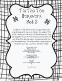 Tic Tac Toe Weekly Homework Set 3