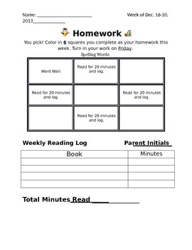 Tic tac toe homework template by kinder cuteness tpt for Tic tac toe template for teachers