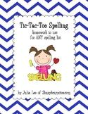 Tic-Tac-Toe Homework for Spelling