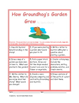 Tic-Tac-Toe How Groundhog's Garden Grew