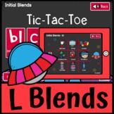 Tic Tac Toe L Initial Blends BL CL FL GL PL | Speech Language Therapists SLP