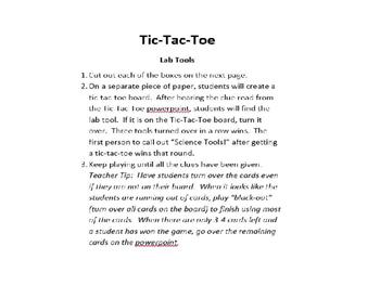 Tic-Tac-Toe Lab Tools game