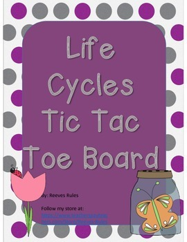 Life Cycle Tic Tac Toe Board for Differentiation