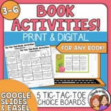 Reading Response Choice Sheets writing activities for any