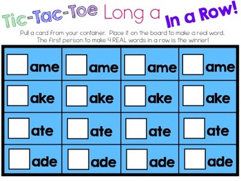 Tic-Tac-Toe Long a In a Row Game