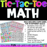 Tic-Tac-Toe MATH (EDITABLE)