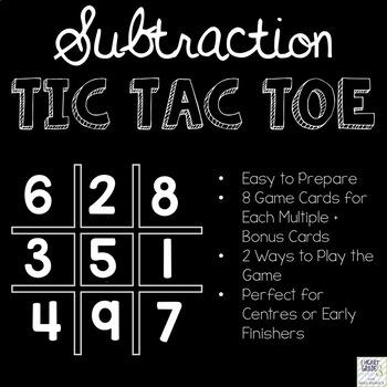 Tic Tac Toe Math Bundle