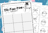 Tic-Tac-Toe Math Game (1st Grade Addition) Winter Theme