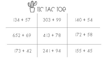 Tic Tac Toe Math Games