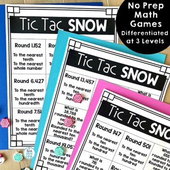 Tic Tac Toe Math Games (Tic Tac Snow)