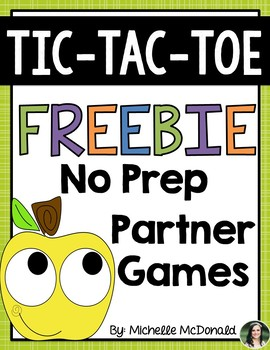 Tic-Tac-Toe Math {Number Sense} Freebie! First Grade Partner Fun