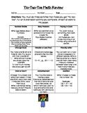 Math Tic-Tac-Toe Review