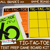 Tic Tac Toe Test Prep Review Game Board Set | STAAR | PARCC
