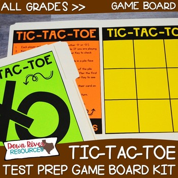 Tic Tac Toe Test Prep Review Game Board Set | STAAR | PARCC