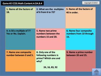 Tic Tac Toe Mental Math Grade 4