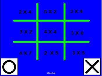 Tic Tac Toe Multiplication 1-5