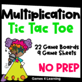 Multiplication Facts Tic Tac Toe Multiplication Games: Multiplication Practice