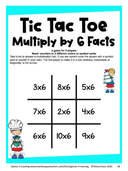 photograph about Math Fact Fluency Games Printable identified as Printable Tic Tac Toe Math Video games for Multiplication Truth of the matter Fluency Coach