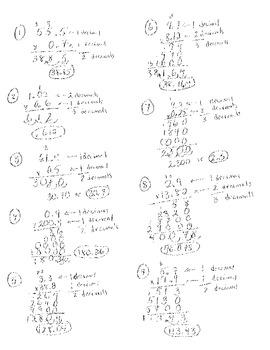 Tic-Tac-Toe Multiplying decimals