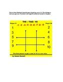 Tic Tac Toe Negative & Positive Number Sums