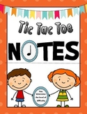 Note Value Game: Tic Tac Toe Notes