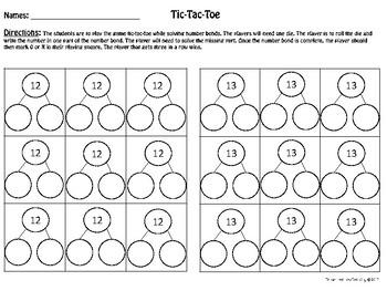 Tic-Tac-Toe Number Bond
