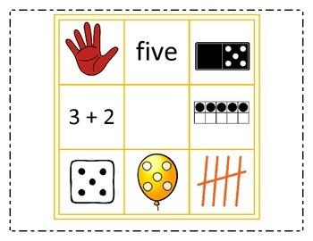 Tic Tac Toe Number Sense Center