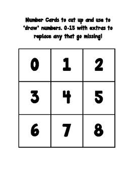 Tic Tac Toe Numbers 0-15