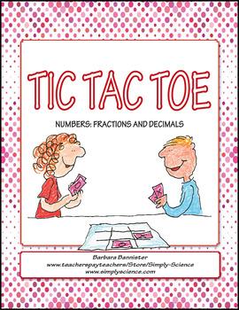 Fractions and Decimals Tic Tac Toe