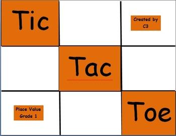 Tic Tac Toe Place Value Grade 1