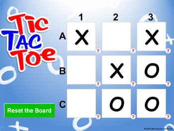 Tic Tac Toe PowerPoint Template - Create Your Own Review Game