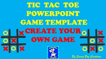 Tic Tac Toe Powerpoint Game Template with Answer Space