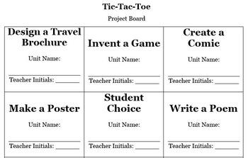 Tic Tac Toe Project Board