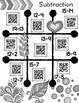 Tic Tac Toe QR Codes Subtraction Sampler Math Station